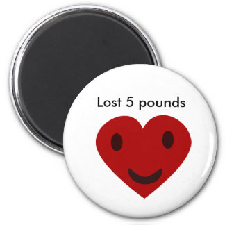 Lost 5 pounds magnet