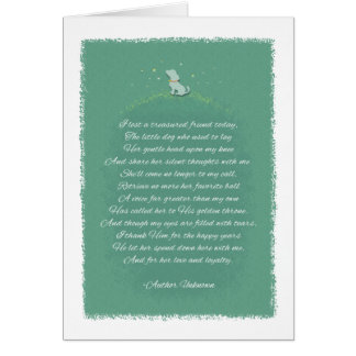 Lost A Treasured Friend - Female Dog - Poem Greeting Card