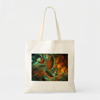 Lost Again Abstract Fractal Tote Bags