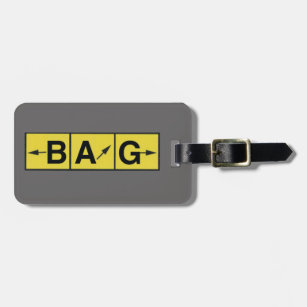 LOST Airport Directions, Aeroplane Pilot Aviator Luggage Tag