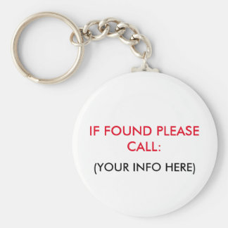 LOST AND FOUND KEYCHAIN