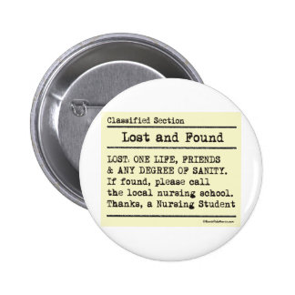 Lost and Found Pinback Button