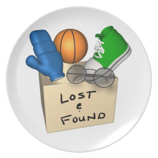 Lost And Found Party Plates