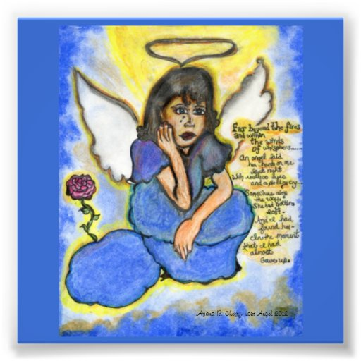 Lost Angel: Original Drawing Photographic Print