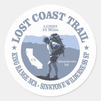 Lost Coast Trail (rd) Classic Round Sticker