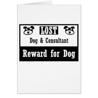 Lost Dog Consultant Note Card