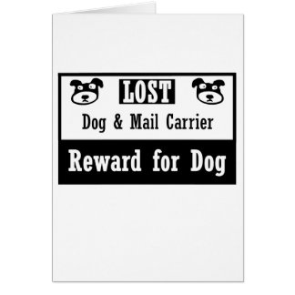 Lost Dog Mail Carrier Card