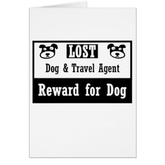 Lost Dog Travel Agent Greeting Cards