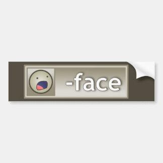 Lost Face Bumper Sticker