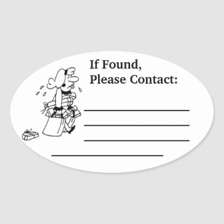 Lost & Found Oval Stickers