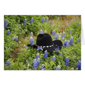 Lost Hat and Bluebonnets Note Card