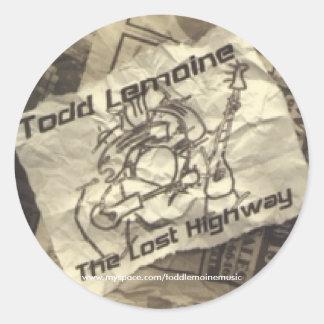 """""""Lost Highway"""" Sticker"""