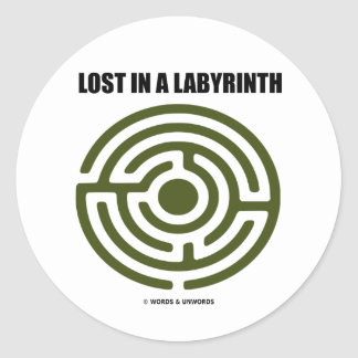 Lost In A Labyrinth (Maze) Classic Round Sticker