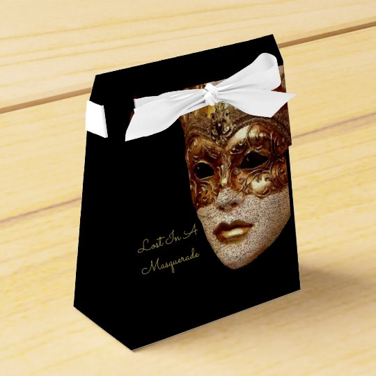 Lost In A Masquerade Halloween Party Favour Boxes
