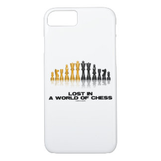 Lost In A World Of Chess Reflective Chess Set iPhone 8/7 Case