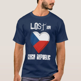 Lost in Czech Republic  flag Heart T-Shirt