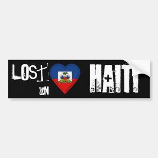 Lost in Haiti Flag Heart Car Bumper Sticker