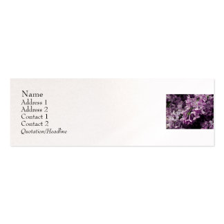 Lost in Lilac Pack Of Skinny Business Cards