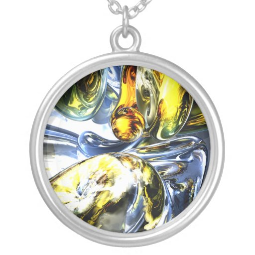 Lost in Space Abstract Necklace