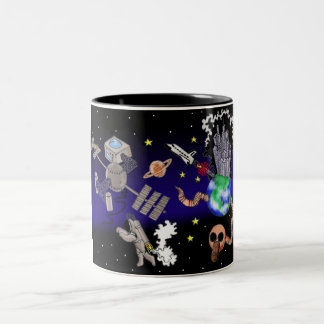 Lost in space Two-Tone mug