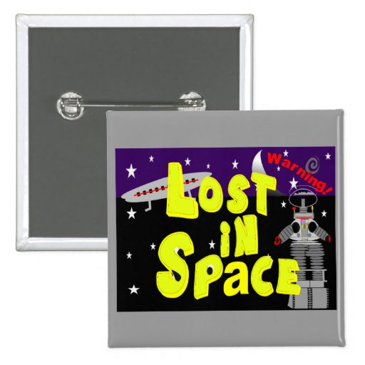 """""""Lost in Space"""" Vintage Art 1965 Will Robinson Button"""