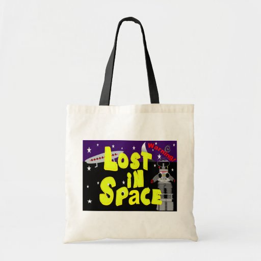"""""""Lost in Space"""" Vintage Art 1965 Will Robinson Canvas Bag"""