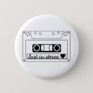 Lost In Stereo Classic Cassette Tape 6 Cm Round Badge