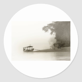 lost in the amazon mist sticker