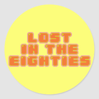 Lost in the Eighties Round Stickers