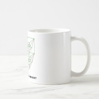 Lost In The Fifth Dimension? (Geometry Attitude) Coffee Mugs