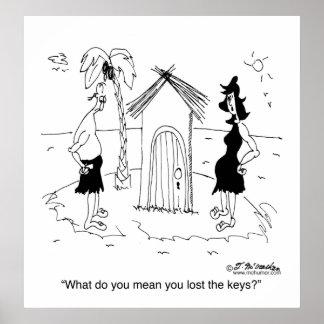 Lost Keys on Desert Island Poster