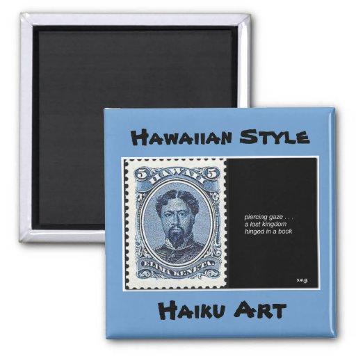 Lost Kingdom Hawaiian Style Haiku Art Magnet