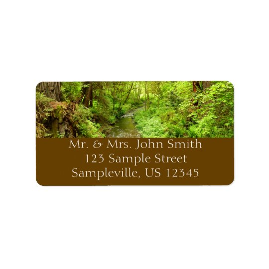Lost Man Creek II at Redwood National Park Address Label