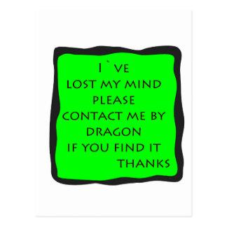 lost mind postcard