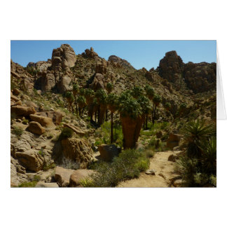 Lost Palms Oasis II at Joshua Tree National Park Greeting Card