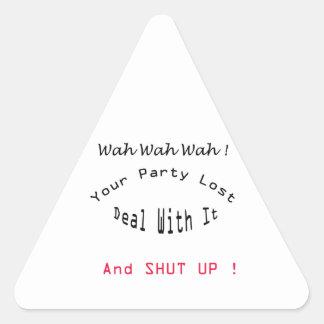 lost party triangle sticker