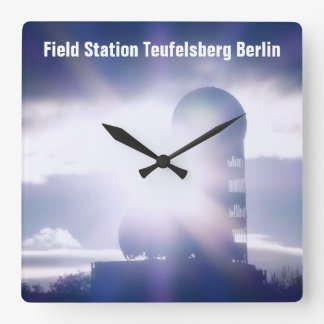 Lost Places, Teufelsberg 05.0 Square Wall Clock