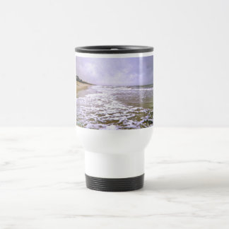 Lost Seagull Among Rough Tides Stainless Steel Travel Mug