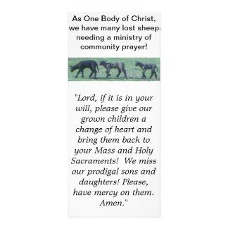 Lost Sheep Catholic Paryer Rack Card