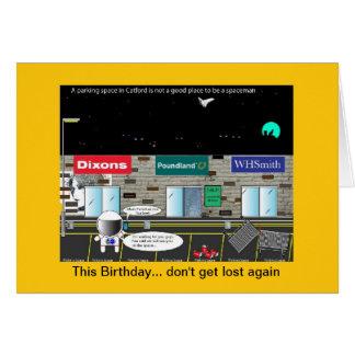 Lost Spaceman Greeting Card