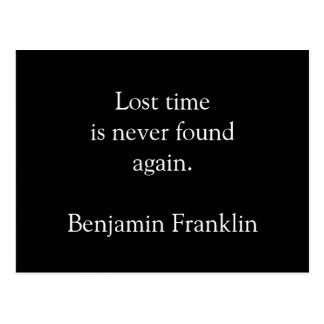 Lost time is never found again - postcard
