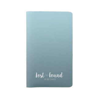Lost to Found in 90 Days | Gradient Ombre Large Moleskine Notebook