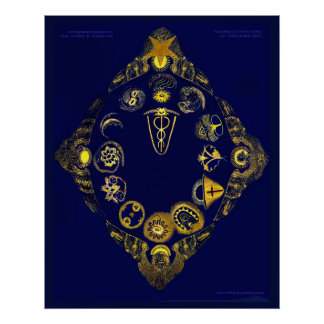 Lost Zodiac of Rudof Steiner (Large 30x 24 inches) Poster