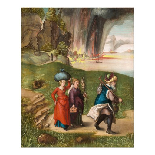 Lot and His Daughters by Albrecht Durer Photo Print