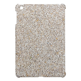 Lot of grey gravel stones as background iPad mini cover