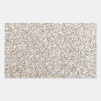 Lot of grey gravel stones as background rectangular sticker