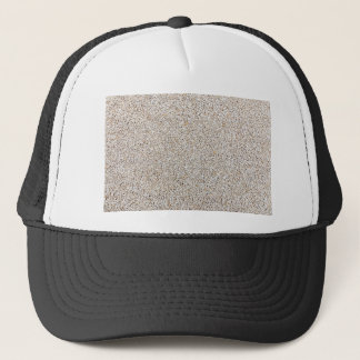 Lot of grey gravel stones as background trucker hat