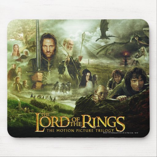 LOTR Movie Poster Art Mousepads