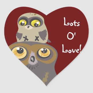 Lots O' Love Owl and Baby Stickers