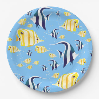 Lots of Angel Fish Paper Plate